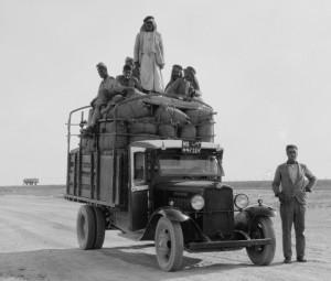 שיטת המספור הארץ-ישראלית הופעלה גם בעיראק. כאן משאית ממחוז מוסול (ספריית הקונגרס)